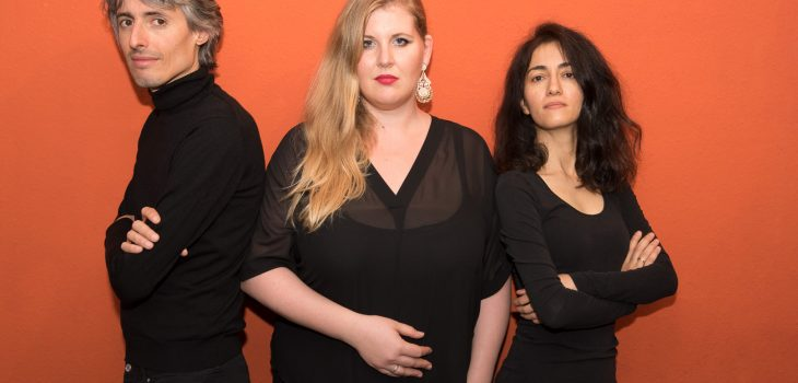 vlnr: Ira Givol, Simone Hirsch, Nare Karoyyan © Liedwelt Rheinland | Sebastian Herzog-Geddes